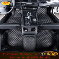 PONSNY Floor mats For Hyundai Elantra Azera Mistra Coupe LAVIDA Genesis Santa Fe Sonata Foot Mats Customized Floor Liners