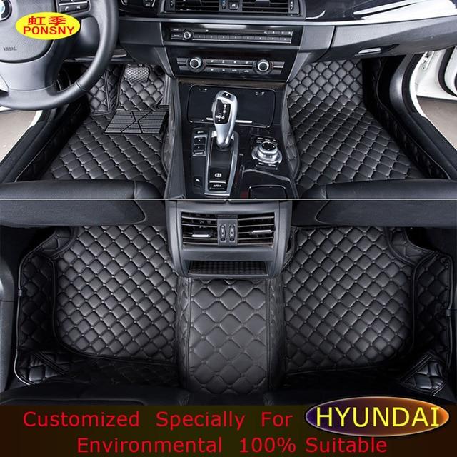 Superb PONSNY Floor Mats For Hyundai Elantra Azera Mistra Coupe LAVIDA Genesis Santa  Fe Sonata Foot Mats