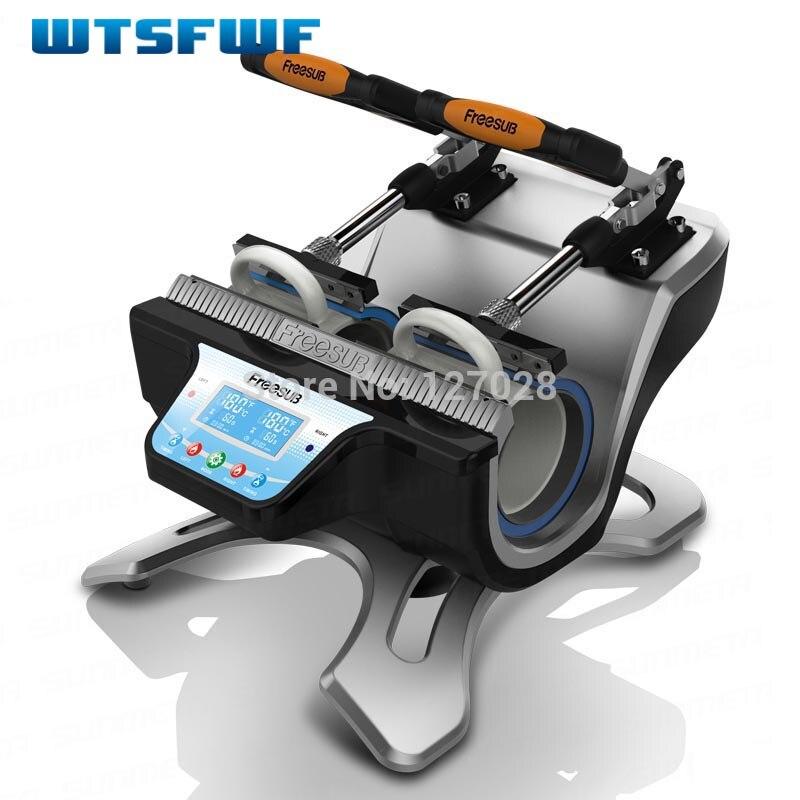 Wtsfwf ST-210 Double-station Thermique Tasse Imprimante à Transfert Machine Tasse Presse De La Chaleur Imprimante Numérique Imprimante Tasse