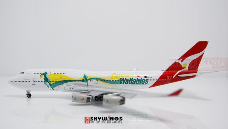 GJQFA1182 B747-400 Australian aviation VH-OJO GeminiJets kangaroo team commercial jetliners plane model hobby 11010 phoenix australian aviation vh oej 1 400 b747 400 commercial jetliners plane model hobby