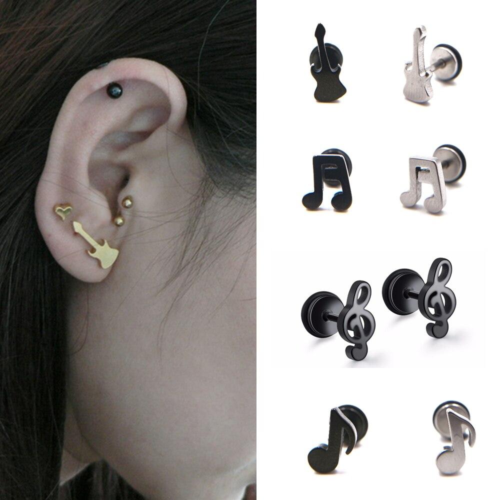 Ohrstecker 2017 Verkauf Angebot Trendy Brincos Ohrringe Mode Nette Reizende Musical Hinweis Zogene Stud Ohrringe Für Frauen Ohrring Schmuck Hohe QualitäT Und Preiswert