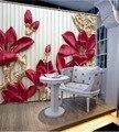 Цветочные занавески 3D занавески Роскошные затемненные Оконные Занавески для гостиной рельефные занавески