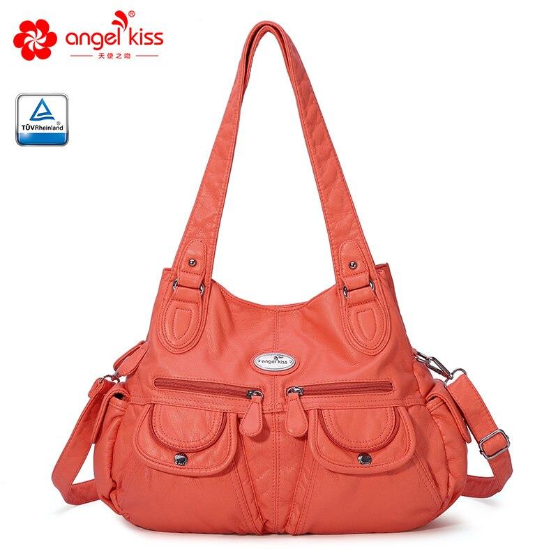 Angelkiss New Arrival Women Shoulder Bags Waterproof PU Leather Handbags AK182228