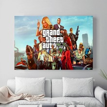Sexy GTA 5  Canvas Art Print Painting Poster Wall Pictures For Room Decoration Home Decor No Frame Picture