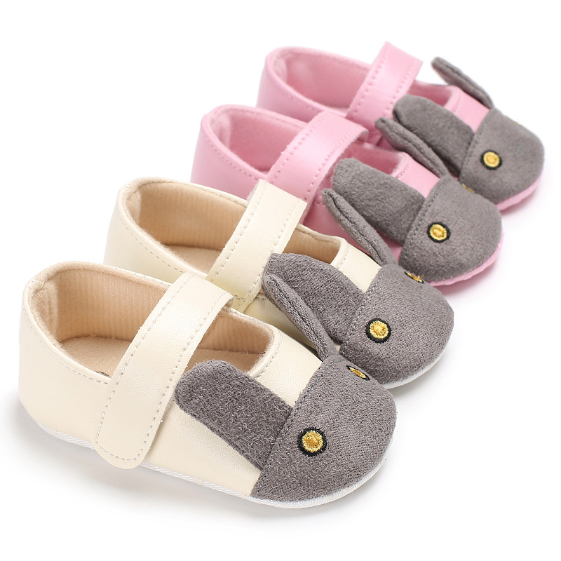 New Stylish PU Leather Baby Girl Moccasins Shoes Cute Rabbit Bebe Baby Shoes Newborn first walker toddler Shoes 2 color