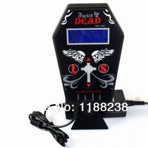 Tatouage alimentation en métal matériel numérique LCD double entrée alimentation PS-3 marque morte en forme de fantôme pour machine à tatouer