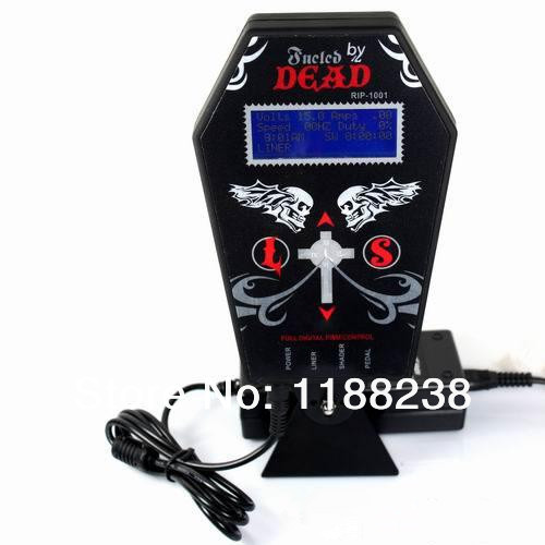 ФОТО Tattoo Power Supply Metal material Digital LCD Dual Input Power Supply PS-3 Dead Brand Ghost-shaped for tattoo machine