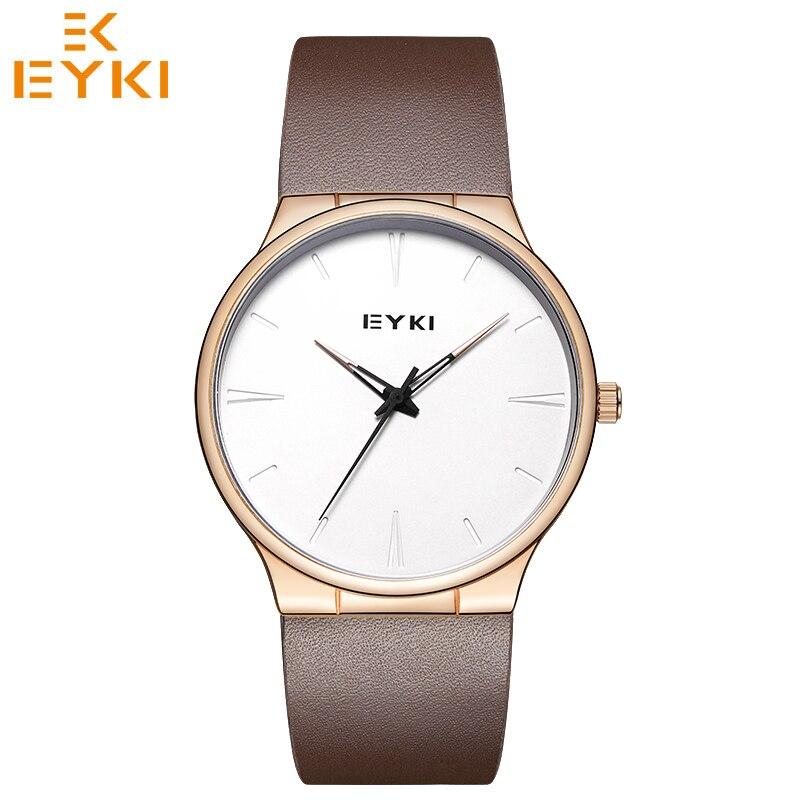EYKI Luxury Brand Lover's Quartz Watches Fashion Reloj Mujer Ladies Watch Waterproof Leather Strap Relogio Masculino Couple Gift