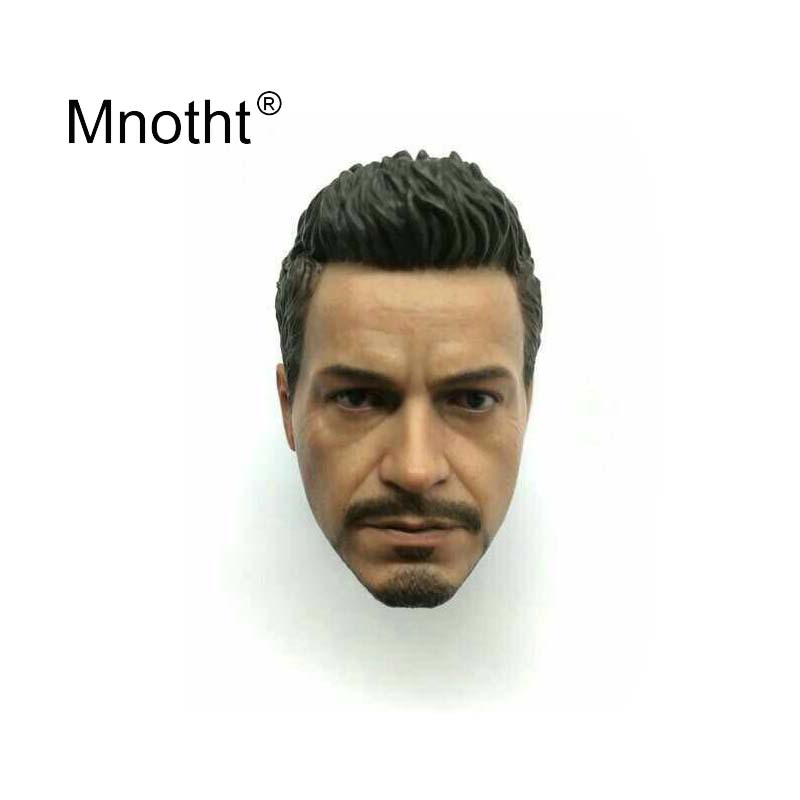 Downey Jr. Head Carving 1:6 Scale Male Soldier Head Sculpt for Tony Stark Action Figure Toys Collection Superhero Model MnothtDowney Jr. Head Carving 1:6 Scale Male Soldier Head Sculpt for Tony Stark Action Figure Toys Collection Superhero Model Mnotht
