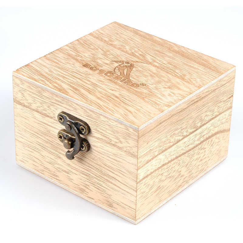 BOBO BIRD relojes, caja de madera para relojes, caja de madera para regalos, cajas para joyas, caja cuadrada de madera para regalos