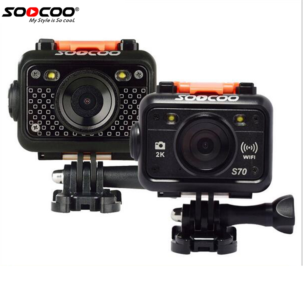 SOOCOO S70 2K@60fps /S60/S60B Sports Action Camera 2K@30fps 1080p 30M Waterproof Build-in WIFI with Watch Remote Control