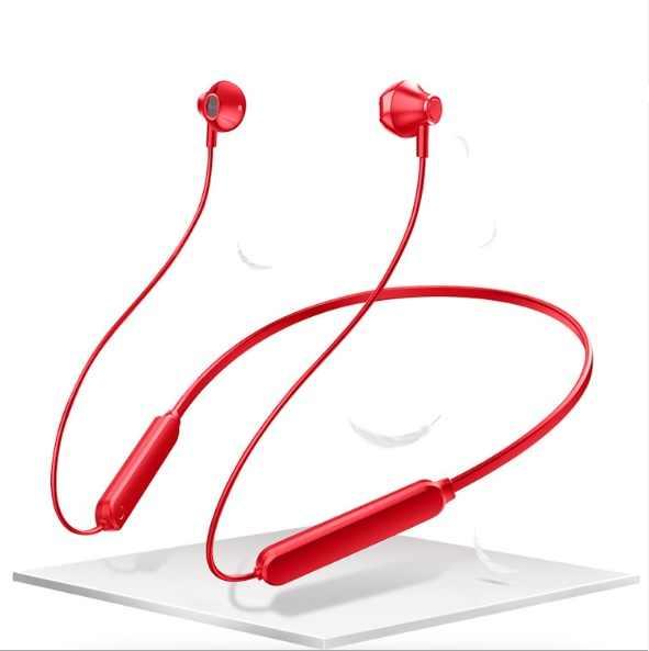 5.0 بلوتوث اللاسلكية سماعة شريط حول ياقة الملابس سماعات الأذن المغناطيسي سماعة الضوضاء إلغاء سماعات مع مايكروفون للرياضة الجري ركوب الدراجات
