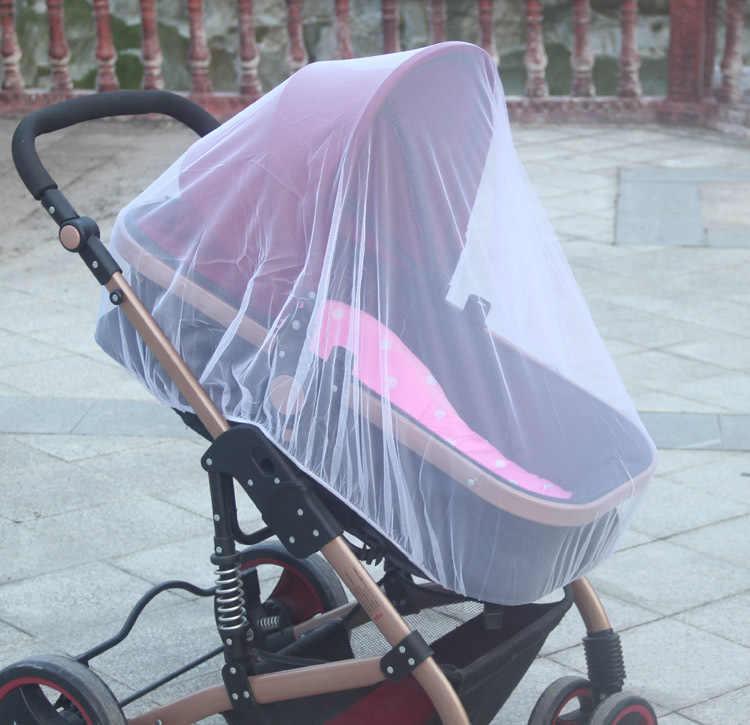 Neue Neugeborenen Kleinkind Infant Baby Kinderwagen Crip Netting Kinderwagen Moskito Insekt Net Sichere Mesh Buggy Weiß Logistik anfrage