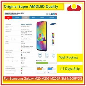 """Image 2 - Original 6.3 """"pour Samsung Galaxy M20 M205 M205F SM M205F/DS écran LCD avec écran tactile numériseur panneau approvisionné"""