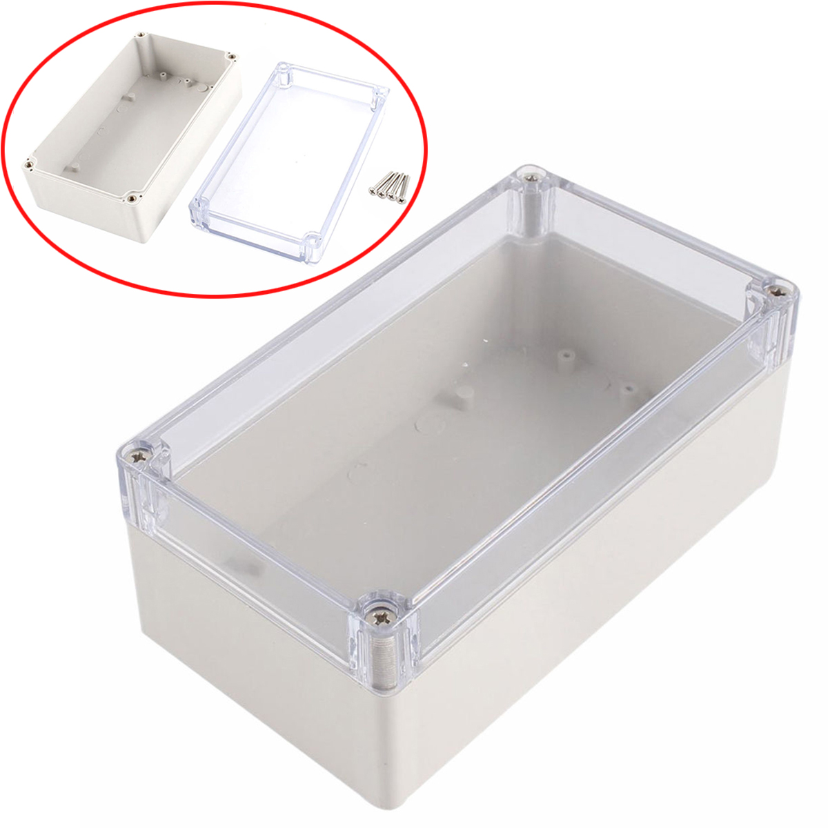 High Quality Waterproof Enclosure Case Clear Cover Plastic DIY Electronic Project Instrument Box 158mmx90mmx60mm 1pc waterproof enclosure box plastic electronic project instrument case 200x120x75mm