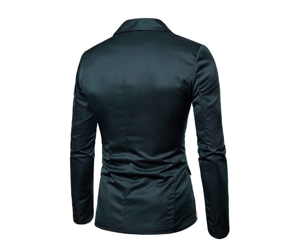 새로운 남성 정장 블레이저 슬림 꽃 공식 코트 자켓 잡초 파티 캐주얼 원 버튼 턱시도 탑스 블랙 그린 퍼플 옐로우