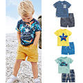 Brand Quality 100% Cotton New 2017 Baby Boys Clothing Set Summer 2pcs Children Suits Short Sleeve Baby Boy Clothes Set Kids Boys