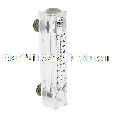 Water Liquid 5-35 LPM 10 GPM Glass Panel Mounting Flow Meter usb3 0 round type panel mounting usb connecter silver surface