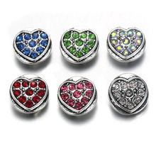 10pcs/lot Boom Life Snap Jewelry Crystal Heart Metal 12MM Snap Buttons Fit DIY OEM Snap Bracelets For Women 9816 oem 10pcs lot 2015