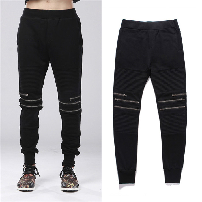 Men's Clothing Pants Zipper Slacks Haren-Pants Fall Slim Plus-Size New Singer Wei 27--44
