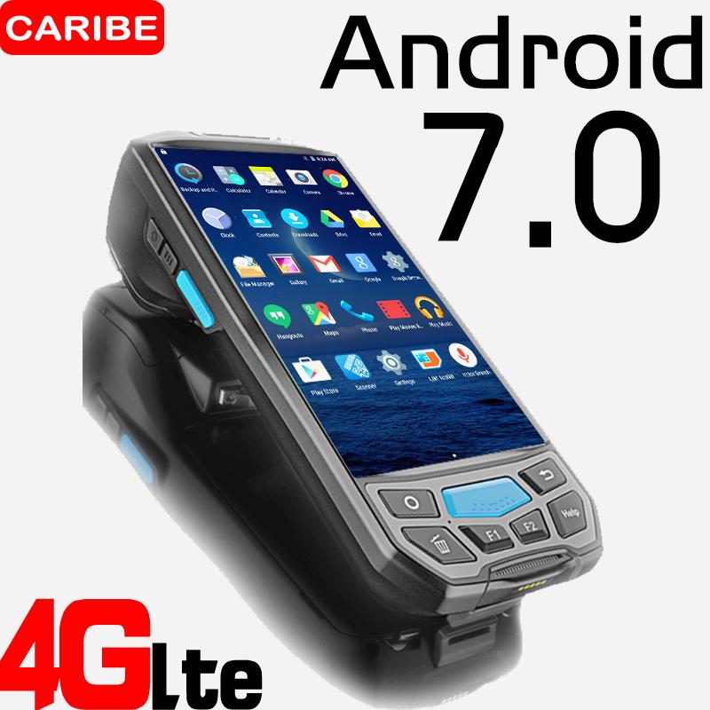 CARIBE 1D 2D Barcode Scanner RFID Handheld Qr Code Printer Industrial PDA Android with WIFI NFC UHF