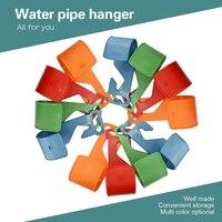 1pc Garden Water Pipe Hanger Hook Organiser Stand Holder House Outdoor Pipe Holder Flexi Expanding Plastic