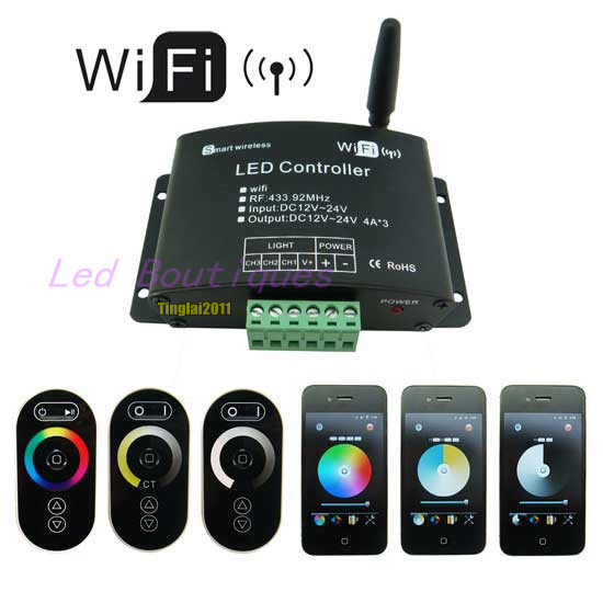 New Arrival WiFi LED Controller RGB Color Temperature Adjustment Dimming 3-IN-1 Functions dmx512 digital display 24ch dmx address controller dc5v 24v each ch max 3a 8 groups rgb controller