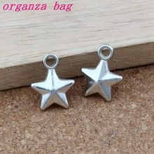 Star Charm Pendants 300Pcs/lot Tibetan silver CCB Fashion Jewelry DIY Fit Bracelets Necklace Earrings 11.8x15mm A-353