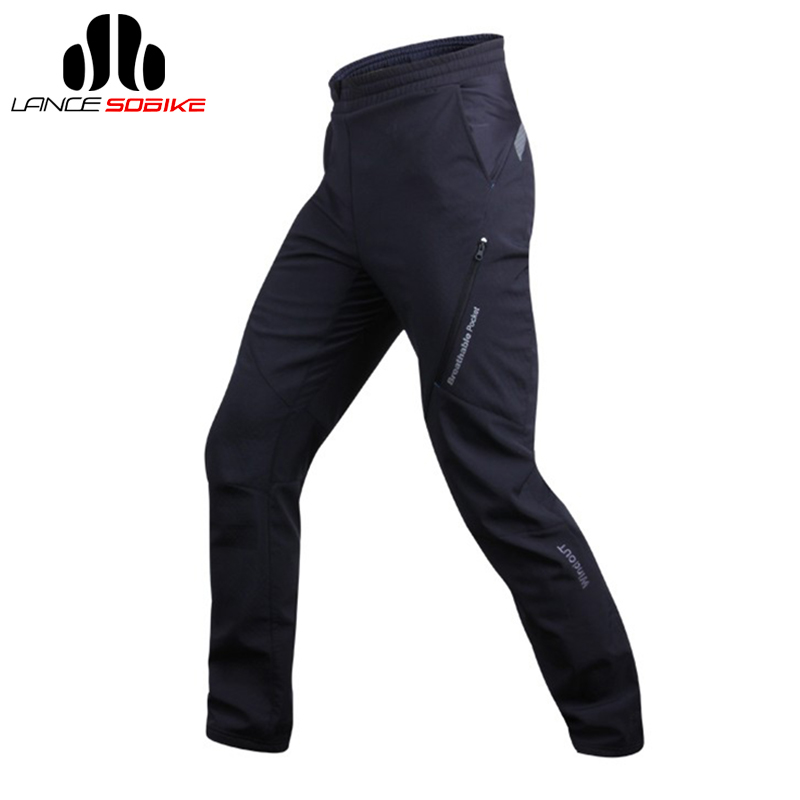 SOBIKE Bike Bicycle Cycling Fleece Thermal Long Pants Winter Warm Trousers -Glacier, Sport Men Tight Pants, Plus Size santic cycling pants road mountain bicycle bike pants men winter fleece warm bib pants long mtb trousers downhill clothing 2017