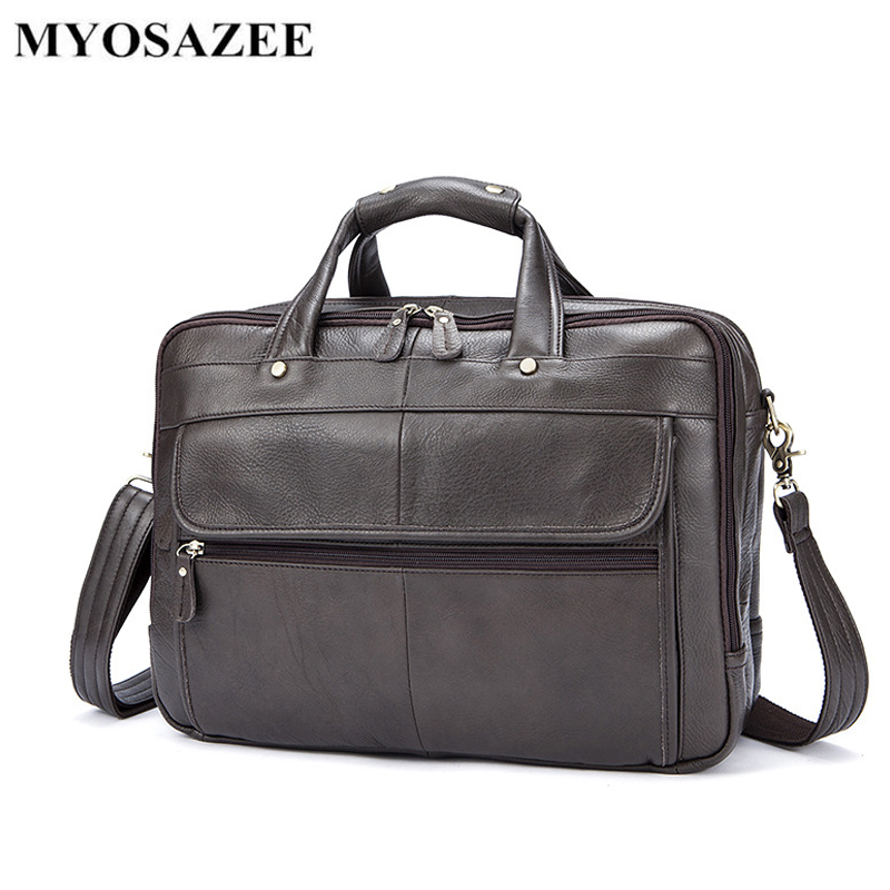Brand Leather Men's Bags Briefcase Business First-class Cowhide One-shoulder Handbag Men's Leisure Bags