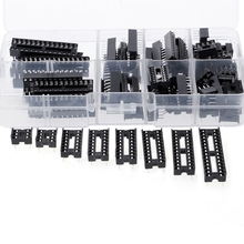 66 Pcs/set DIP IC Sockets Adaptor Solder Type Socket Kit 6 8 14 16 18 20 24 28 Pins Drop ship 30pcs cd4013be cd4013 dip 14 ic
