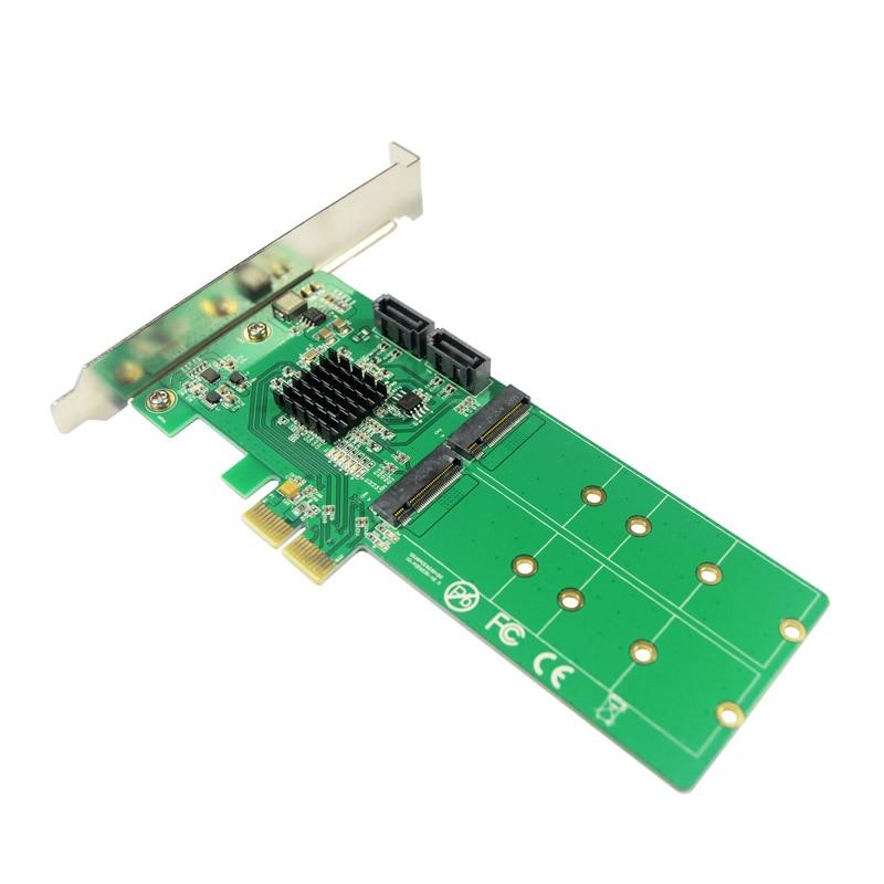 Image 4 - PCIe to 2x M.2 NGFF SSD   2x SATA3.0 Hardware RAID Card RAID 0 1 10 and HyperDuoraid cardraid 0pcie to pcie