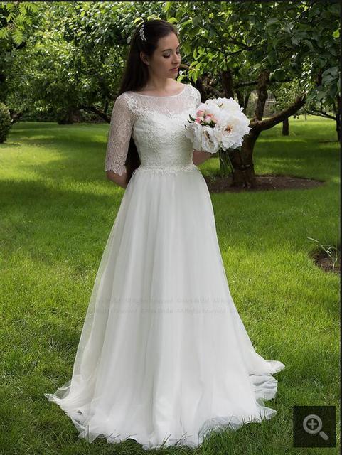2017 neue ankunft eine linie Sexy Spitze Tüll Brautkleider mit ...