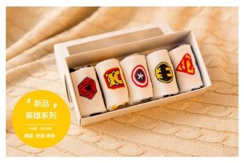 Superman Batman Captain Classical Cartoon Style Socks Character Pattern Superheroes Socks for Girls Boys
