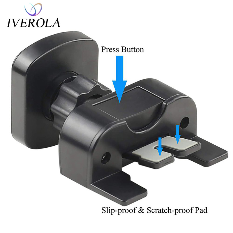 Univerola Car Holder Phone Mount CD Slot Magnetic Stand Magnet Holder For iPhone XS 8 7 6 s Plus Release Button Universal Holder|Phone Holders & Stands|   - title=
