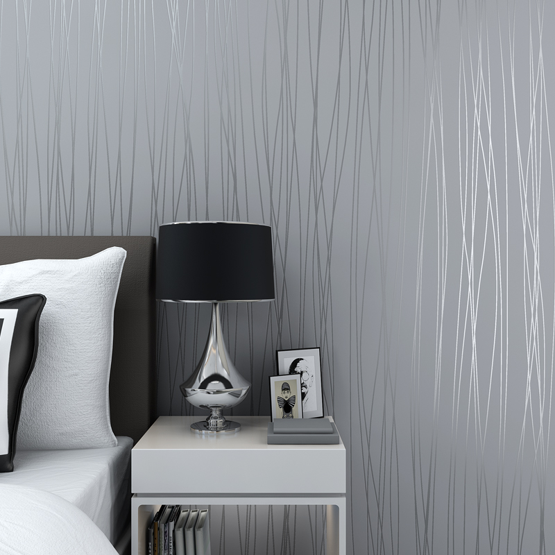 Hot Sale Beautiful Reflective Glitter Stripes Wallpaper Modern Elegant  Solid Living Rooms 3D Wallpapers Grey Pink ...