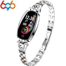 696 H8 HR, смарт-браслет для женщин и девушек, Смарт-часы, браслет, модная одежда, ремешок из нержавеющей стали, Смарт-часы, деловые, формальные, PK 115 plus