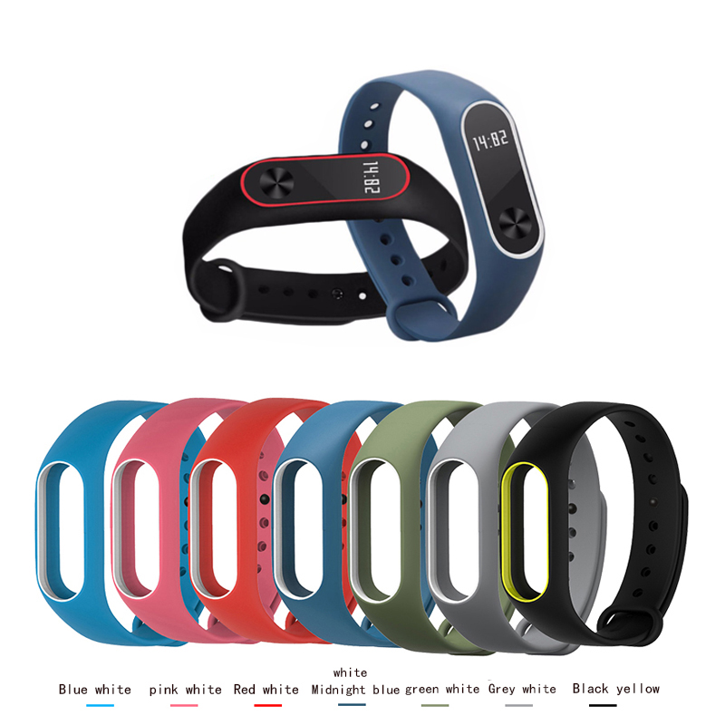 BUMVOR Colorful Strap Original Mi Band 2 Strap for xiaomi mi band 2 Bracelet Silicone Wristband Accessories Miband 2 original xiaomi steel net watch band for miband