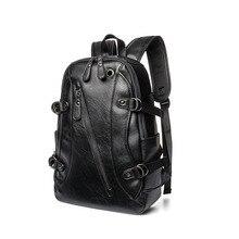 New Arrive Black Large capacity Travel Laptop Backpack mochila Men s Leather Backpack Schoolbag Popular Leather