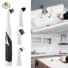 MSJO Electric Sonic Cleaning Brush Hurricane Spin Scrubber Bathroom Wall Sink Bathtub Tile For Toilet Tools Set