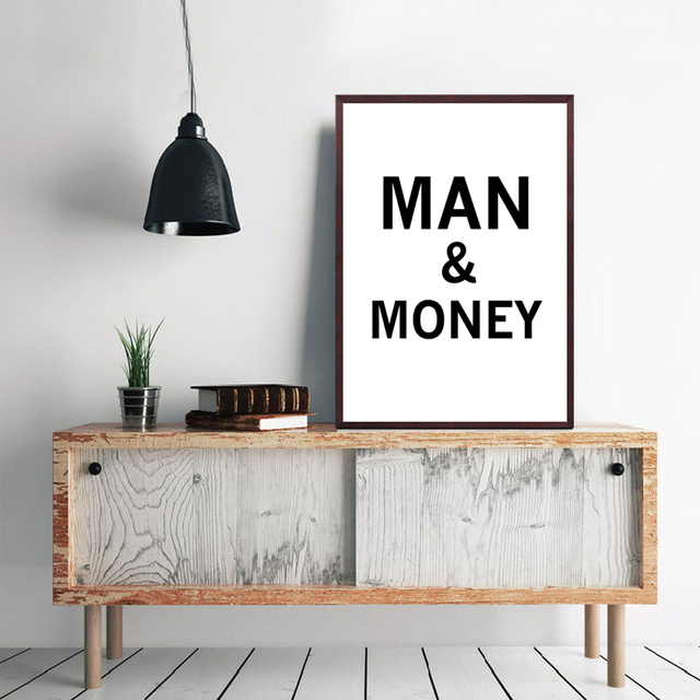 HEYCUADRO Cartoon Man And Money Wall Poster Prints Dining Room Home Decor  No Frame HC18403
