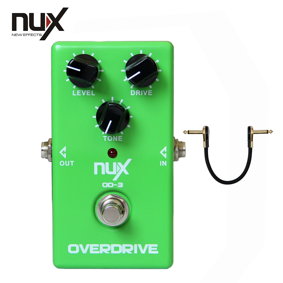 NUX OD-3 Vintage Overdrive True Bypass Overdrive Electric Guitar Effects Pedal nux ch 3 chorus guitar pedal true bypass design electric guitar effects pedal free shipping