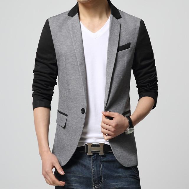 edcc431574c HOT New Spring Autumn Fashion Brand Men Blazer Men Trend Jeans Suits Casual  Suit Jacket Men Slim Fit Suit Male Top Coat