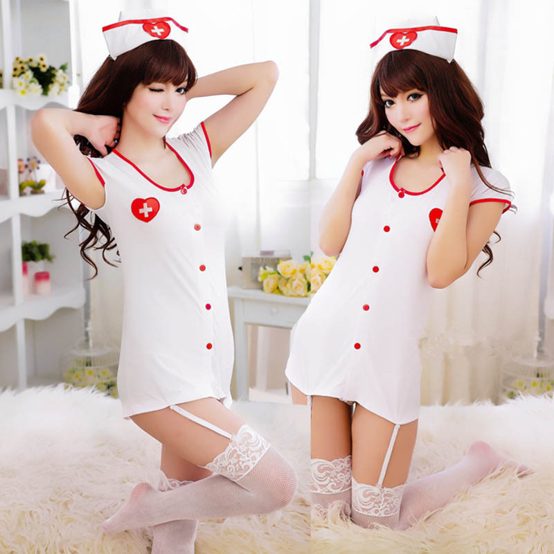 Sexy Nurse Uniforms Lingerie Women Role-playing Nurse Costumes Temptation Erotic Lingerie Baby Doll Custome 2019 Fashion