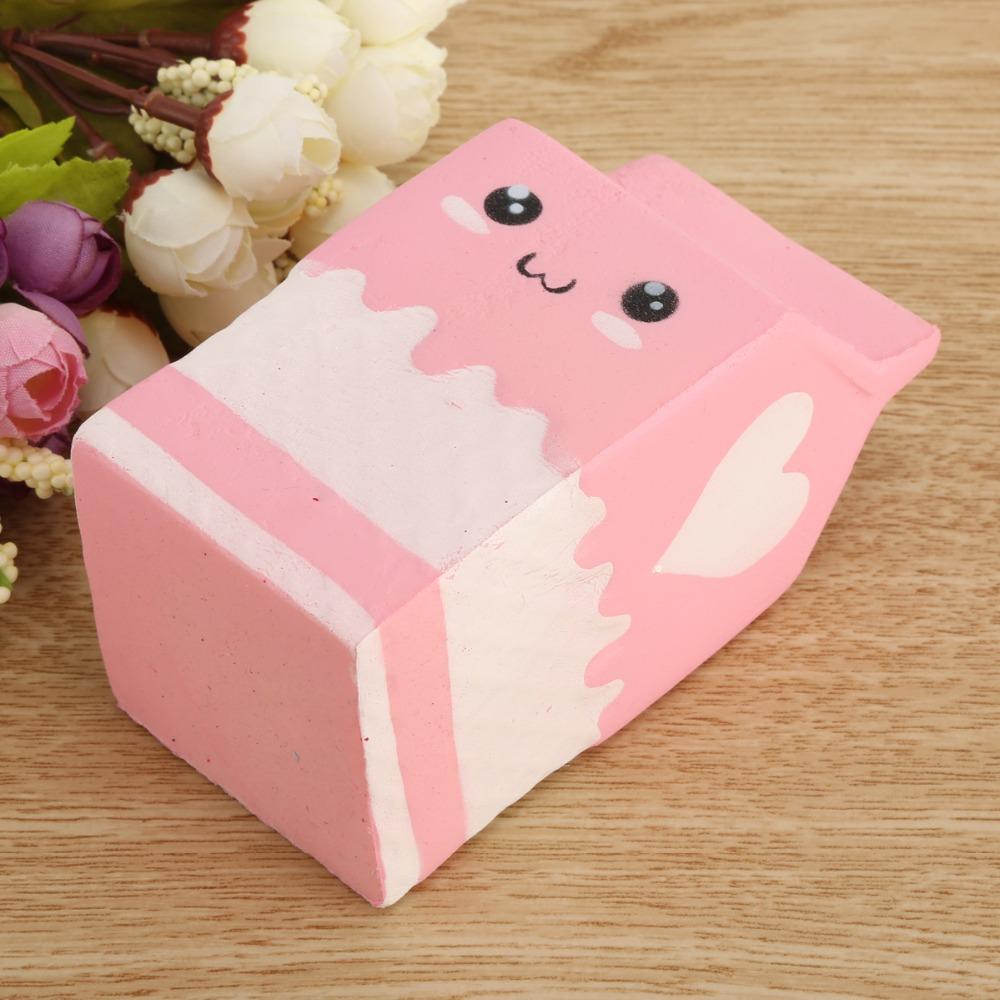 Cute Mochi Yogurt Box Soft Squeeze Toys Decompression Cartoon Kid ...