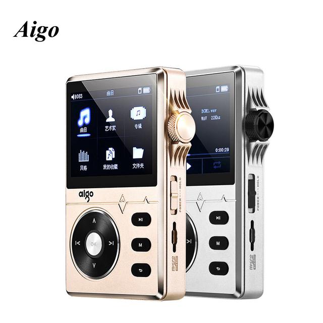 Aigo 108 de Música Sin Pérdidas de Alta Fidelidad de Sonido de Alta Calidad de Aleación de Zinc de 2.2 Pulgadas 8 GB Reproductor MP3 con soporte de Pantalla de Color APE/FLAC/MP3