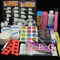 New Arrival Pro UV Gel Nail Kit Sets Glitter Powder French Nail Art Tips Gel Tools DIY Set