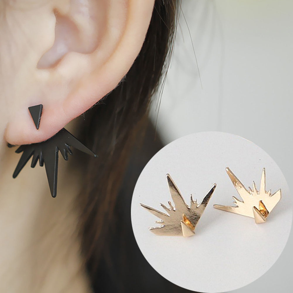 New Fashion Simple Triangle Ear Jacket Beautiful personality for Women Hot Sale Geometric Stud Earrings Female Gift