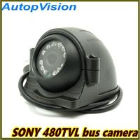 mini Car camera with 12PCS IR Leds Sony CCD 480TVL infrared waterproof Bus Security Camera for 1CH/2CH/4CH DVR
