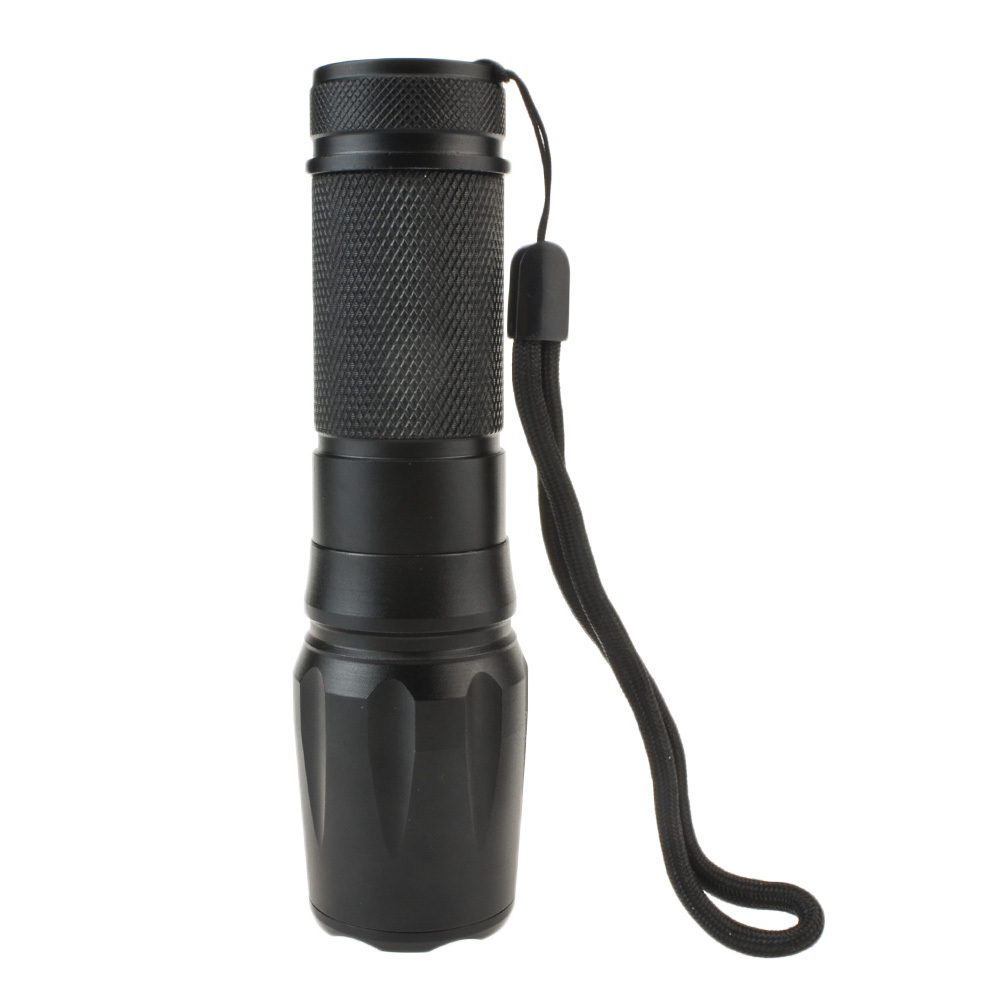 600Lumen Led CREE LED Blub Hunting Flashlight Torch Zoomable Light+18650 Rechargeable Battery+Charger White/Green/Red/Blue